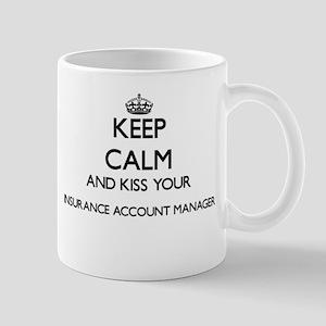 Keep calm and kiss your Insurance Account Man Mugs