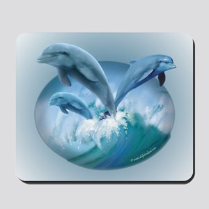 Waves of Dolphins Mousepad