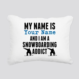Snowboarding Addict Rectangular Canvas Pillow