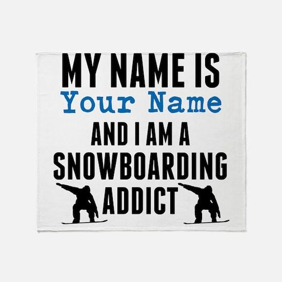 Snowboarding Addict Throw Blanket