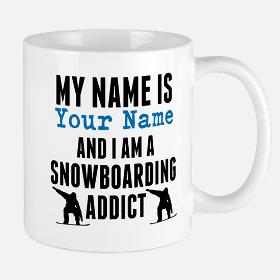 Snowboarding Addict Mugs