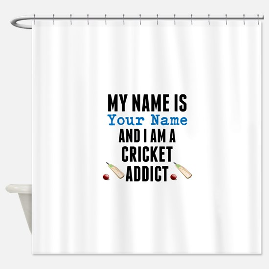 Cricket Addict Shower Curtain