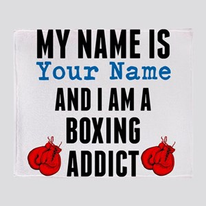 Boxing Addict Throw Blanket