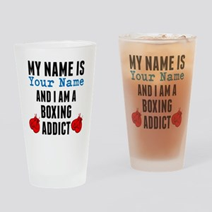 Boxing Addict Drinking Glass