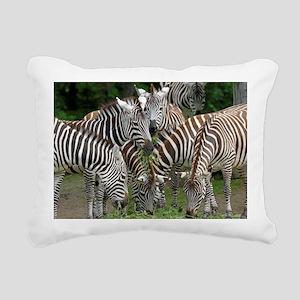 Zebra_2014_1101 Rectangular Canvas Pillow