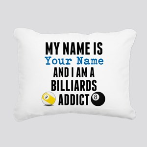 Billiards Addict Rectangular Canvas Pillow