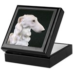 White Borzoi Profile Keepsake Box