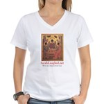 SarahLaughed.net Women's V-Neck T-Shirt