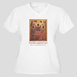 SarahLaughed.net Women's Plus Size V-Neck T-Shirt