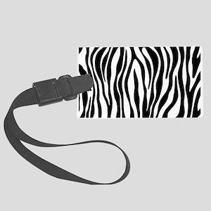 Zebra Print Large Luggage Tag