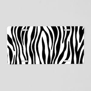 Zebra Print Aluminum License Plate