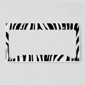 Zebra Print License Plate Holder