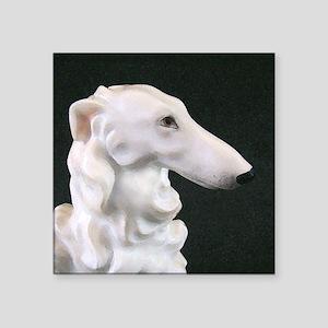 White Borzoi Profile Sticker