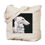 White Borzoi Profile Tote Bag