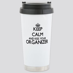 Keep calm and kiss your Stainless Steel Travel Mug