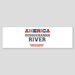 AMERICAN REGIONS - SUSQUEHANNA RIVE Bumper Sticker