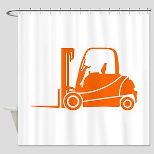 Forklift Truck Shower Curtain