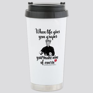 Lucy Make Wine of 16 oz Stainless Steel Travel Mug