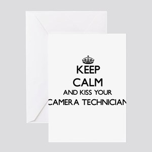 Keep calm and kiss your Camera Tech Greeting Cards