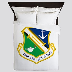 143rd Airlift Wing Queen Duvet