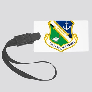 143rd Airlift Wing Large Luggage Tag