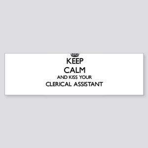 Keep calm and kiss your Clerical As Bumper Sticker