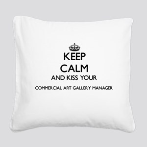 Keep calm and kiss your Comme Square Canvas Pillow
