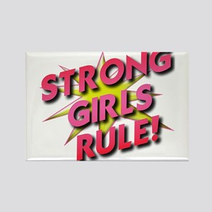 Strong Girls Rule! Rectangle Magnet
