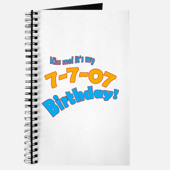 Kiss Me it's My July 7 Birthday Journal