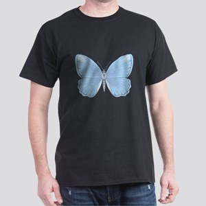 Pretty Light Blue Butterfly Dark T-Shirt