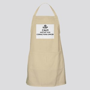 Keep calm and kiss your Corrections Officer Apron