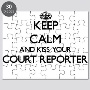 Keep calm and kiss your Court Reporter Puzzle