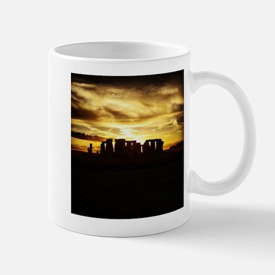 Sunset Stonehenge Mugs
