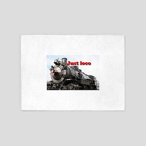 Just loco: steam train Arizona, USA 5'x7'Area Rug