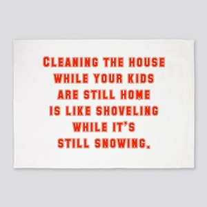 Cleaning The House While Your Kids 5'x7'Area Rug