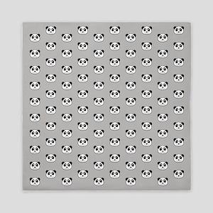 Panda Face Pattern Queen Duvet