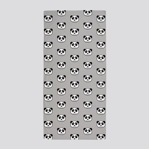 Panda Face Pattern Beach Towel