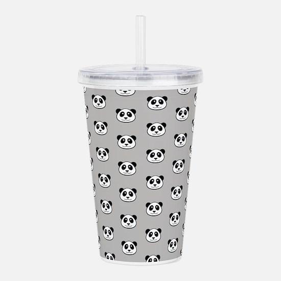 Panda Face Pattern Acrylic Double-Wall Tumbler