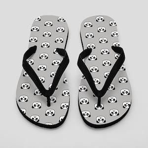 Panda Face Pattern Flip Flops
