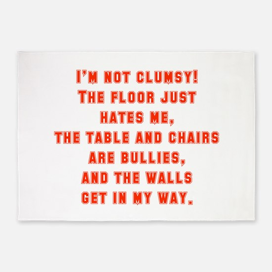 I'm Not Clumsy 5'x7'Area Rug
