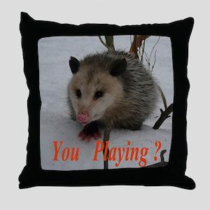 March Madness Possum Throw Pillow