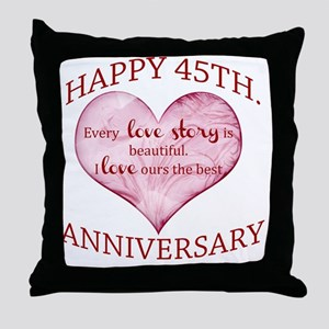 45th. Anniversary Throw Pillow