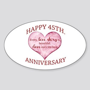 45th. Anniversary Sticker