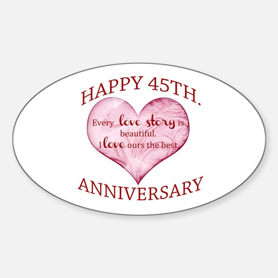 45th. Anniversary Decal