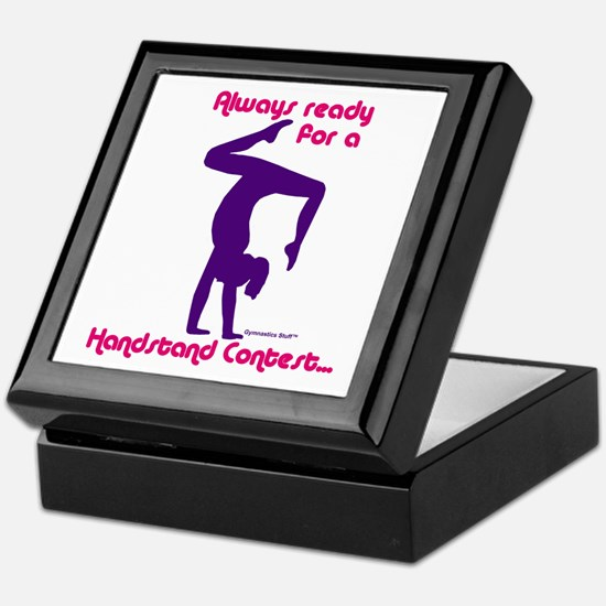 Gymnastics Keepsake Box - Handstand
