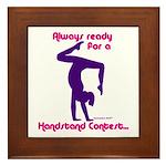 Gymnastics Framed Tile - Handstand