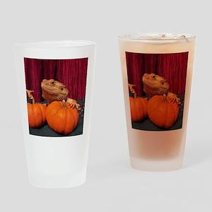 Autumn Beardie Drinking Glass