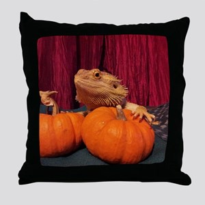 Autumn Beardie Throw Pillow