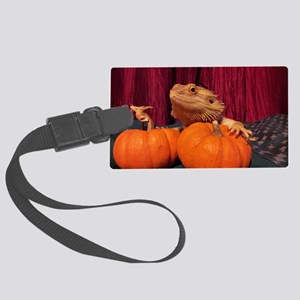 Autumn Beardie Large Luggage Tag