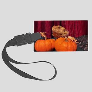 Autumn Beardie Large Luggage Tag